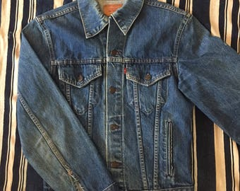 Vintage 1980s Levis Type 3 Denim Jacket Mens Size S/M 38/40 Made In Canada