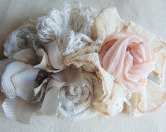 fabric flower composition