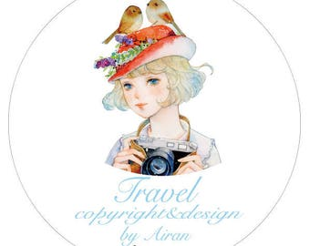 33mm Washi tape Masking tape travel girl