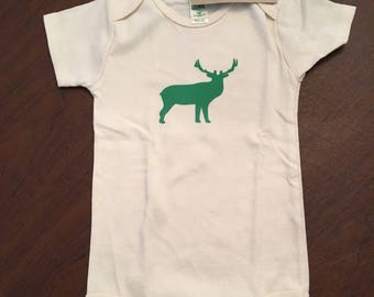 Elk Organic Cotton Baby Clothes Custom Screen Printed Onesie 18-24mo
