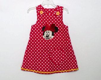 Girl Aline Minnie birthday dress Minnie girl dress Girl Aline dress name age Monogram girl Minnie dress Girl birthday Minnie Mouse dress