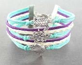 Turtle Bracelet, Infinity Bracelet, Nautical Jewelry, Turtle Gifts, Stingray Bracelet, Turtle Jewelry, Rope Bracelet, Ocean Jewelry
