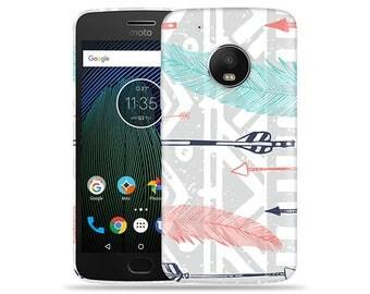 Motorola Moto G6 Case - Motorola G6 Case #Feathery Tribal Cool Design Hard Phone Cover
