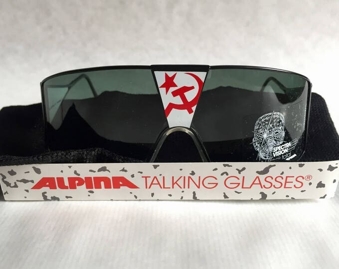 Alpina Talking Glasses «Glasnost» Vintage Sunglasses Full Set West Germany NOS