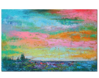 Canvas Painting, Canvas Wall Art, Large Abstract Art, Original Painting, Wall Art, Large Oil Painting, Landscape Painting, Large Art