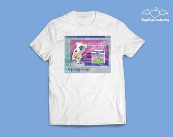 Animal Crossing Vaporwave K.K. Slider T-Shirt