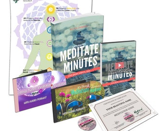 Learn Meditation with Certification to Guide + 10 MP3 Audios I Mindfulness