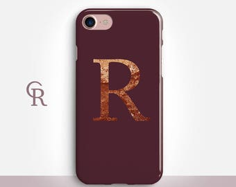 Personalised Maroon Phone Case For iPhone 8 iPhone 8 Plus iPhone X Phone 7 Plus iPhone 6 iPhone 6S  iPhone SE Samsung S8 iPhone 5 Custom