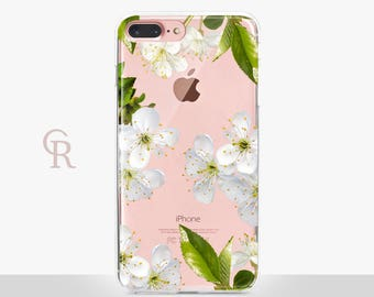 Floral iPhone 7 Clear Case - Clear Case - For iPhone 8 - iPhone X - iPhone 7 Plus - iPhone 6 - iPhone 6S - iPhone SE Transparent Samsung S8