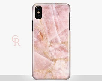 Pink Marble iPhone X Case For iPhone 8 iPhone 8 Plus - iPhone X - iPhone 7 Plus - iPhone 6 - iPhone 6S - iPhone SE - Samsung S8 - iPhone 5