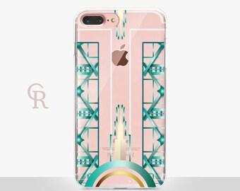 Art Deco Clear Phone Case - Clear Case -For iPhone 8, 8 Plus, X, iPhone 7 Plus, 7, SE, 5, 6S Plus, 6S,6 Plus, Samsung S8,S8 Plus,Transparent