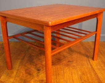 Mid Century Danish Coffee Table in Teak