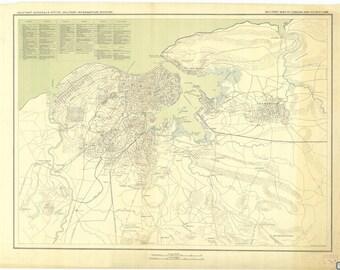 Havana Cuba Map - 1898