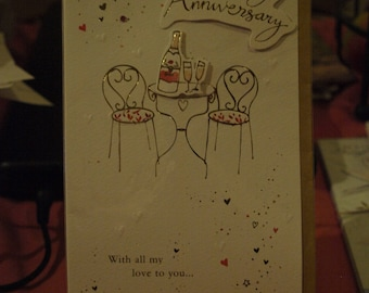 On Our Wedding Anniversary Card