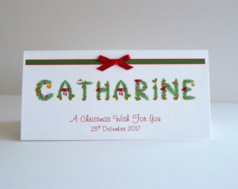Christmas Card Personalised with Name of Names