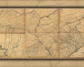 Poster, Many Sizes Available; Map Of Eastern Pennsylvania 1768