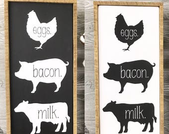 Farmhouse Kitchen Sign, Farmhouse decor, Farm decor, Kitchen decor, Farm Kitchen, Farmhouse kitchen sign, Cow sign, pic sign, chicken sign