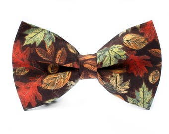 Autumn Bow Tie | Fall Bow Tie | Bow Tie for Boys | Bow Tie for Dog | Bow Tie for Men | Toddler Bow Tie | Men Bow Tie | Boys Bow Tie