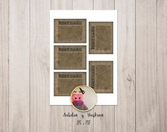 Scrapbooking and crafts instant download digital collage sheet. Blank labels printable