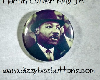 """BLACK HISTORY SPECIAL!! Dr Martin Luther King Jr 1.25"""" or 1.5"""" Pinback Button Keychain Magnet - I have a dream - Historical Figures -"""