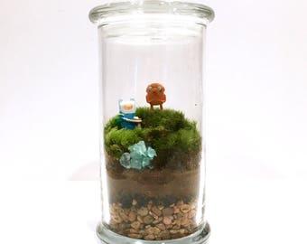 Adventure Time Inspired Terrarium // Mini Finn & Jake
