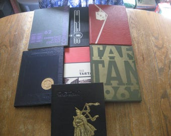 1960's Edinboro State College Pennsylvania Yearbooks, Lot of 7  - 1962, 63, 64, 65, 66, 67, 69 - All For One Price