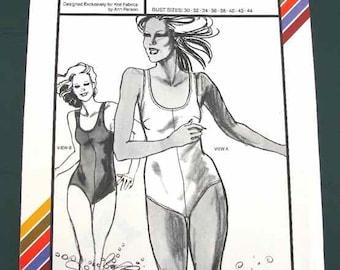 1979 Stretch-n-Sew Pattern #1320 Womens Tank Swimsuit Bust Sizes 30-44 Uncut