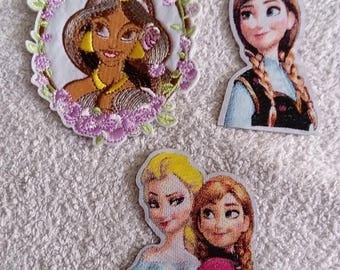 Set of 3 badges / Princess patch