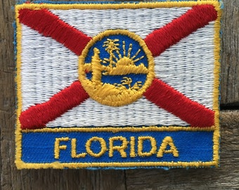 ONLY ONE! Florida State Flag Vintage Souvenir Travel Patch from Voyager