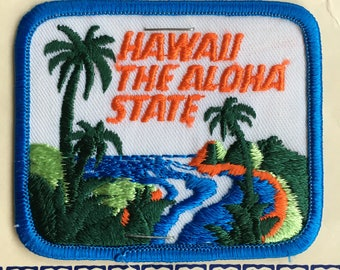 Hawaii The Aloha State Vintage Souvenir Travel Patch from Maui Sales