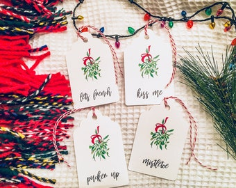 Mistletoe Holiday Gift Tags