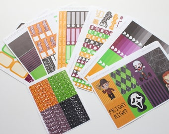 Horror Night Weekly Planner Sticker Kit and Washi