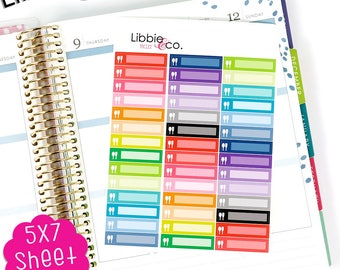 MC122 Rainbow Meal Icon Life Planner Kit Stickers!!!!   Perfect for the Erin Condren Planner!!!!