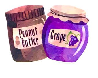 1 Piece - RESIN Peanut Butter and Jelly BFF Best Friends Flatback Flat back Accent   - Approx. 2.8 inch x 1.8 inch for Hair bow Center