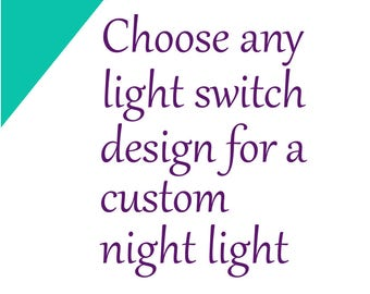 Custom night light - Baby nightlight - Kids nightlight - Nursery night light - LED nightlight plugin - Bathroom light - Nursery decorations
