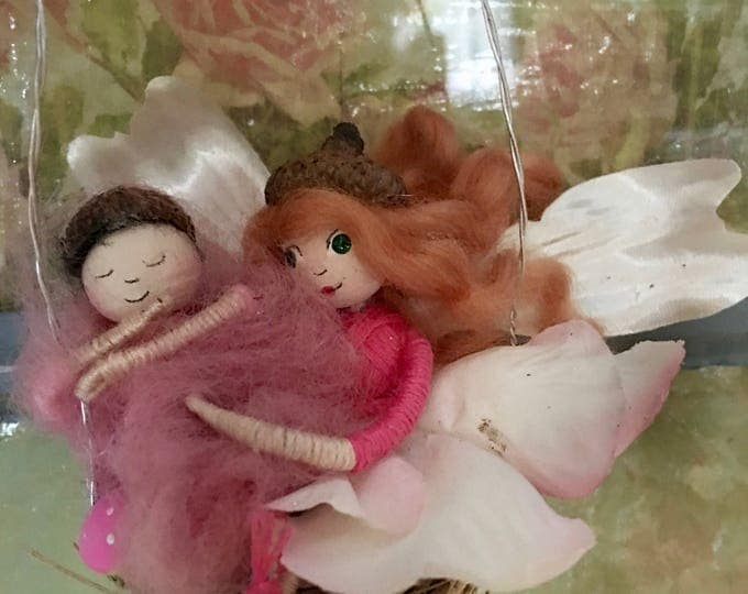 Mother & Daughter Fairy Duo on Swing