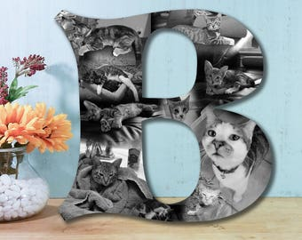 13 Inch Custom Photo Collage, Photo Collage Letter, Photo Collage on Wood, Photo Collage Gift, Personal Collage, Custom Photo Letters