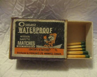 Collectible Tobacciana Match Boxes- Oghlan's WaterProof Wooden Safety and Hotel Fort Des Moines