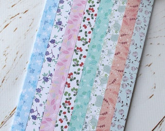Origami strips/ Wedding Lucky Stars/ Paper strips/ Pastel origami