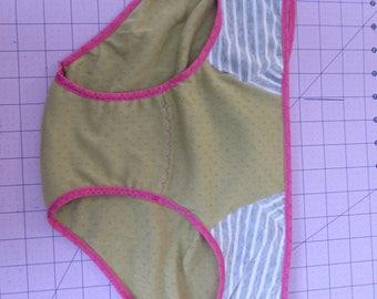 Spring green flowered panties