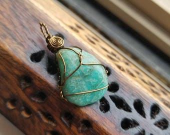 Amazonite Necklace for Warrior Goddess Heart Centered Living