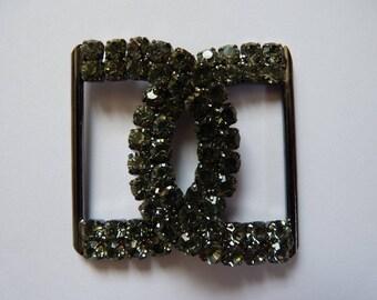Beautiful metal and rhinestone belt buckle