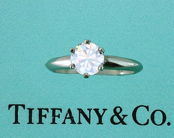 Tiffany & Co. GIA Certified .90ct G-VVS1 XXX Diamond Solitaire Engagement Ring