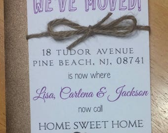 We have moved! Our new home cards!