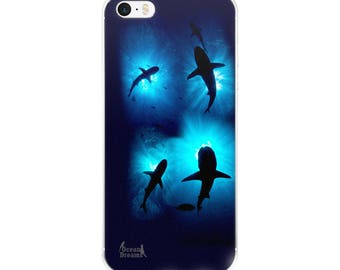 Sharkburst iPhone 5/5s/Se, 6/6s, 6/6s Plus Case