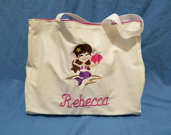 Customized Tote with waterproof pocket