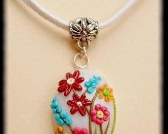 field of flowers pendant