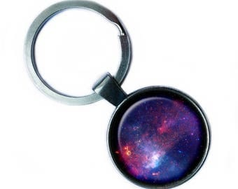 NASA Photograph Nebular Awe Keychain Keyring