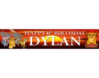 2 x Lion Guard Personalised Birthday Banner, custom, party,