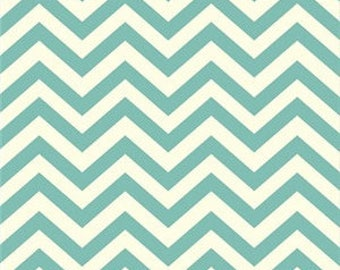 Birch Organic cotton skinny chevron pool mint